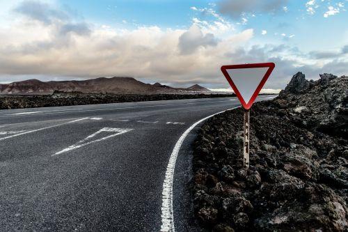 road yield junction