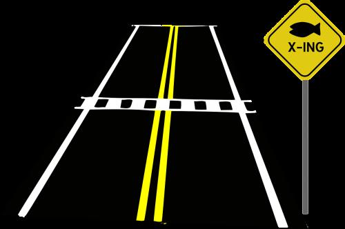 road crossing crosswalk