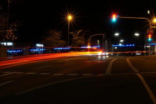 road traffic night