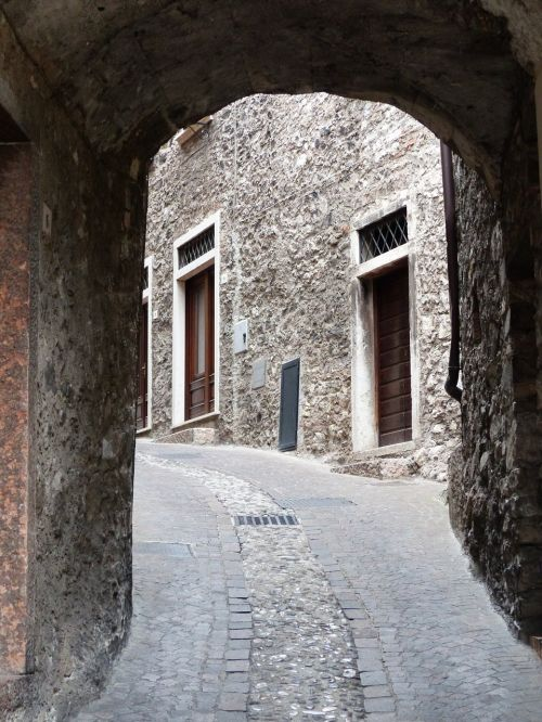 road passage paving stones