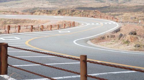 road winding japan