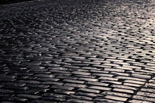 road  cobblestones  patch