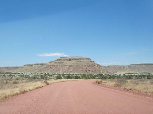 road namibia kalahari