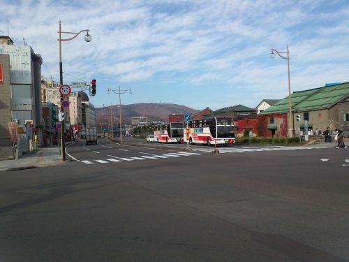 road intersection hokkaido