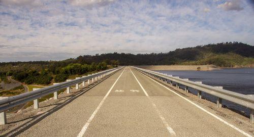 road dam water
