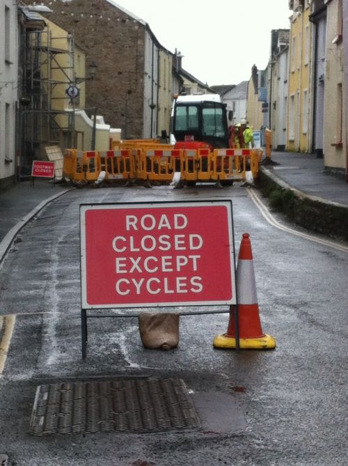 road closed street