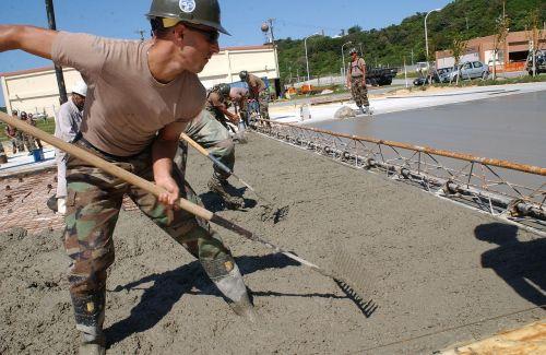 road construction concrete