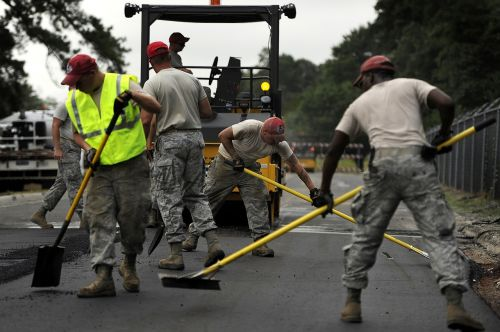 road construction asphalt