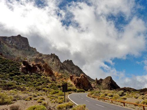 road mountains landscape