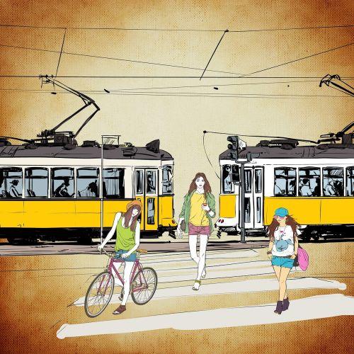 road tram girl