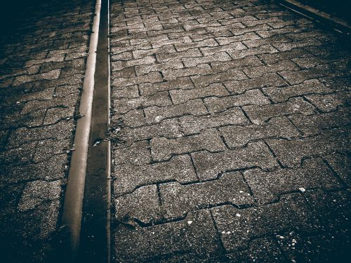 road paving stones cobbled