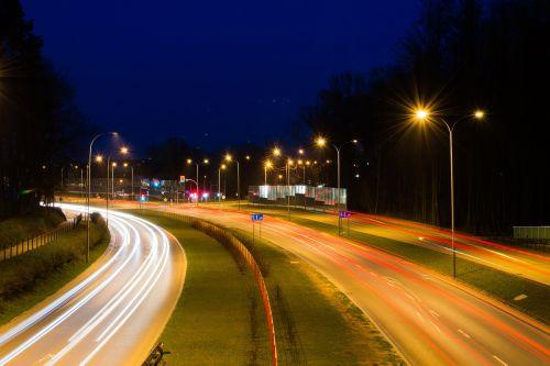 road night city