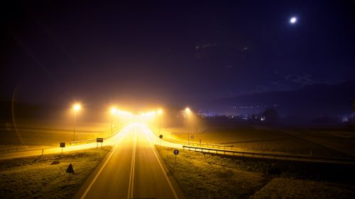 šviesus, kryžkelės, tamsi, greitkelis, šviesa, žibintai, linija, naktis, kelias, kelionė, kelias, kelias naktį
