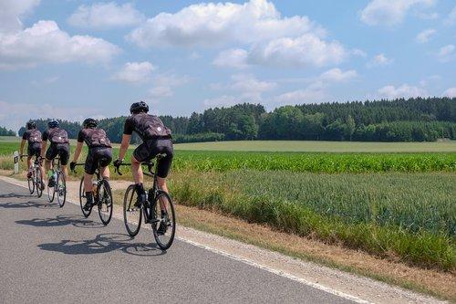 road bike  cyclists  marathon