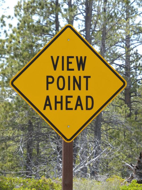 road sign viewpoint yellow