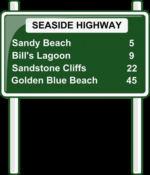 road sign roadsign highway sign