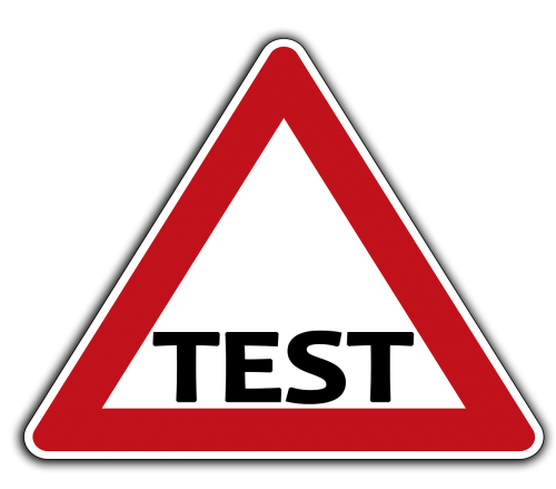 road sign right of way test