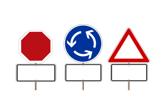 road sign stop shield