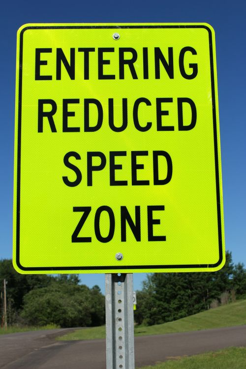 Road Sign Reduced Speed