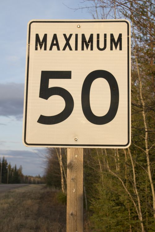 kelias, ženklas, greitis, 50, km, kelio ženklų greitis 50 km