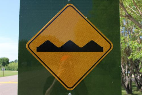 Road Sign Speed Bump