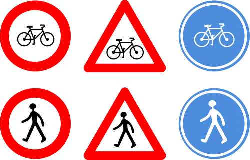 road signs bicycle cycle