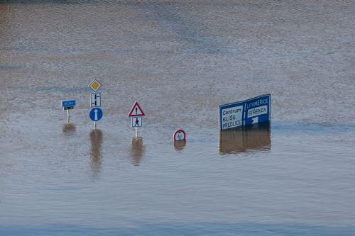 Road Signs Underwater