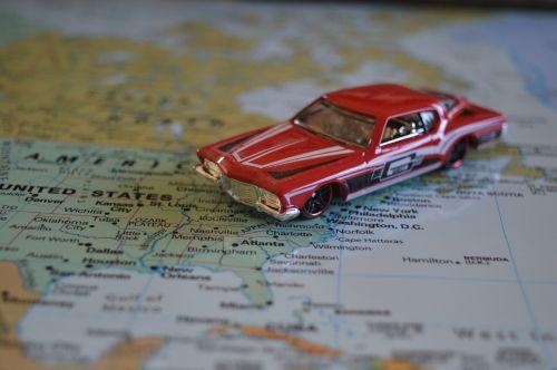 road trip car map