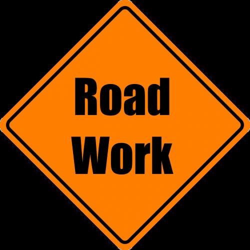 road work construction orange