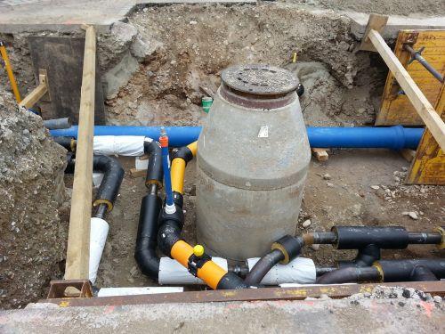 road works pipes gulli
