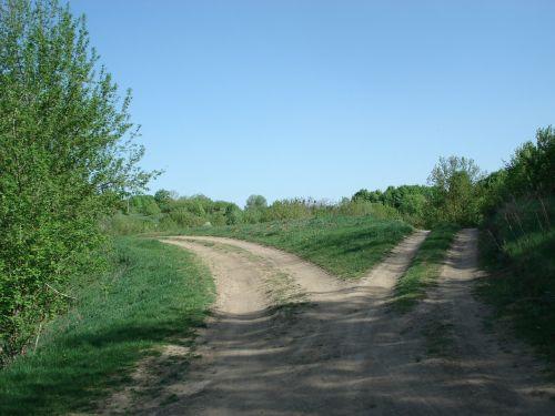 roads split fork