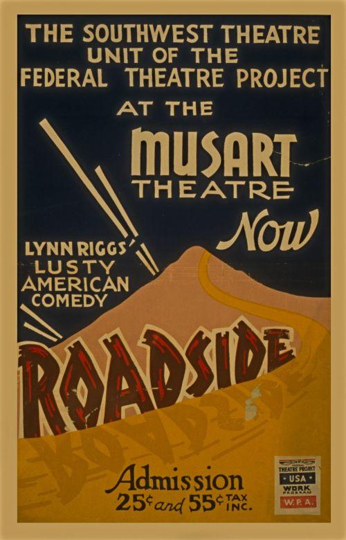 Roadside Vintage Comedy Poster