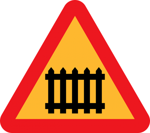 roadsign barrier warning caution sign