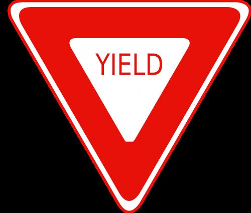 roadsigns traffic yield