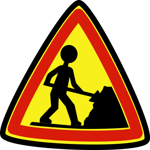 roadsigns workers construction