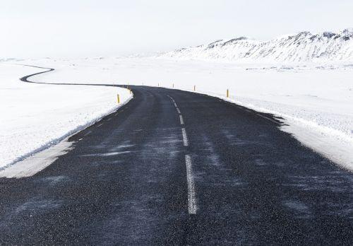 roadway snow road