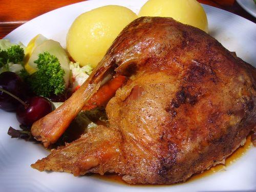 roast goose goose leg dumplings