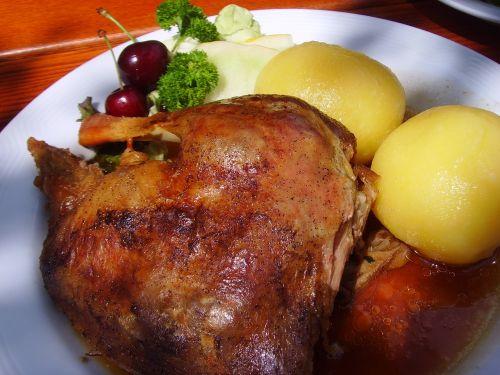 roast goose dumplings eat