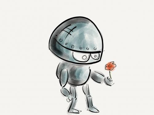 robot flower technology