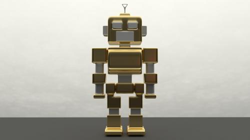 robotas,metalas,dirbtinis intelektas,auksinis,mašinos