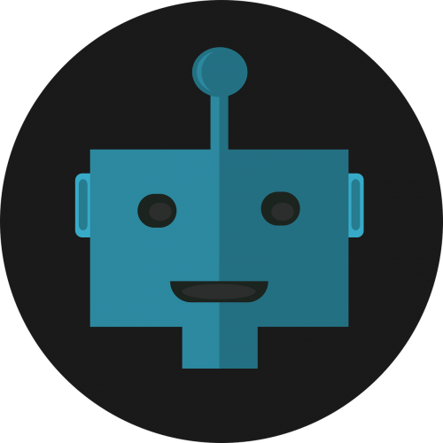 robot icon flat