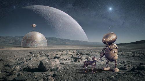 robot planet moon