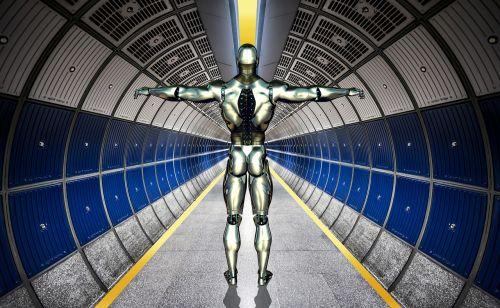 robot cyborg forward