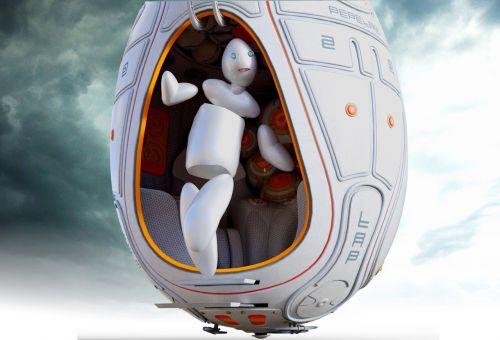 robot spaceship forward