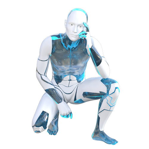 robot  android  crouching