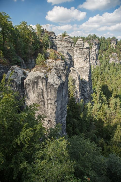 rock saxon switzerland elbe sandstone mountains