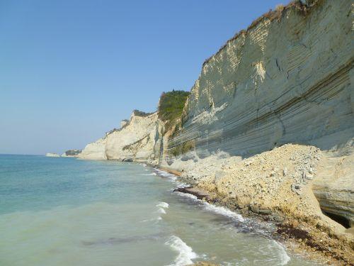 rock sea corfu