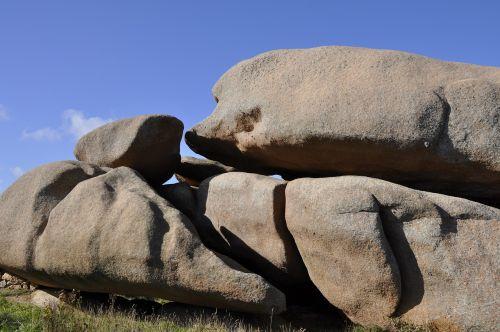 rock granite sky