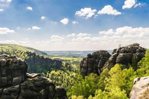 rock saxon switzerland mountains
