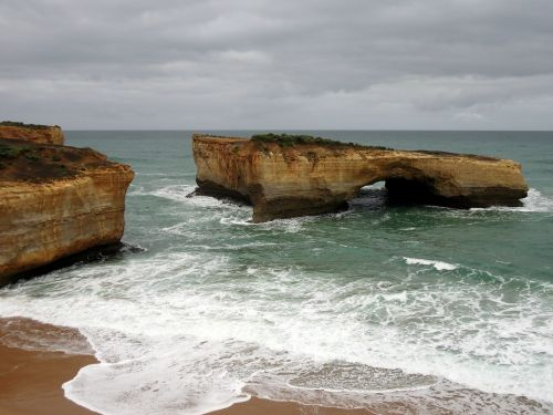 rock beach cliff
